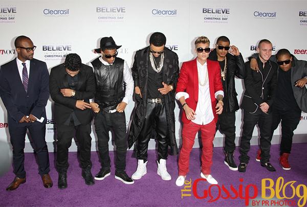 Alfredo Flores, Justin Bieber at 'Believe' Premiere