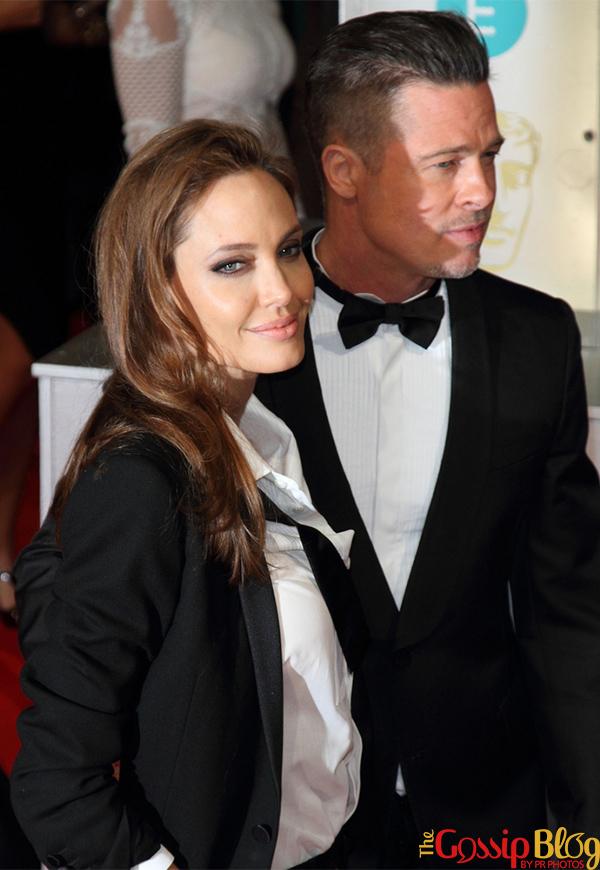 Angelina Jolie & Brad Pitt at British Academy Film Awards 2014