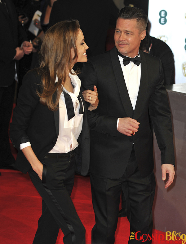 Angelina Jolie, Brad Pitt at British Academy Film Awards 2014