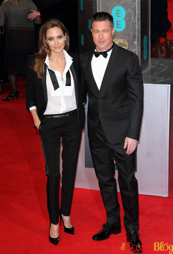 Angelina Jolie and Brad Pitt at BAFTA 2014