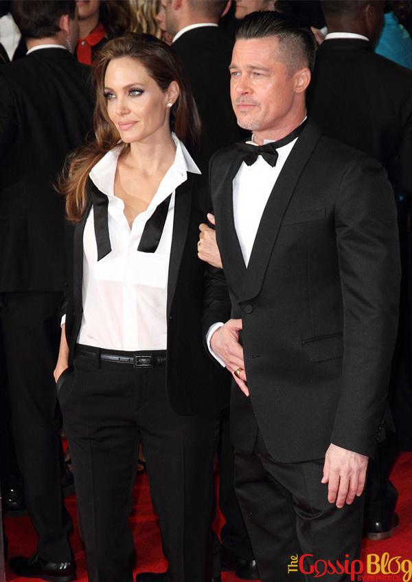 Angelina Jolie and Brad Pitt at BAFTAs 2014
