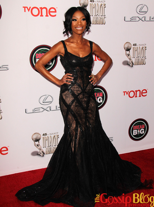 Brandy at 2014 NAACP Image Awards