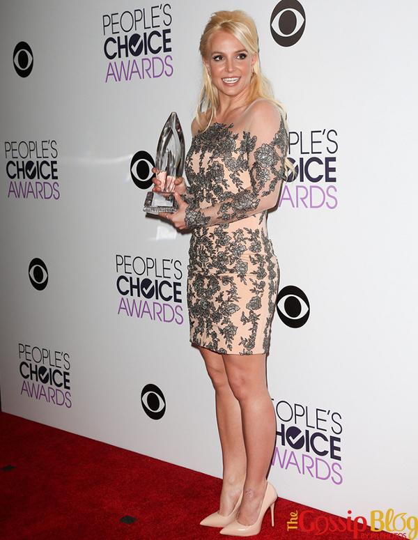 Britney Spears at 40th Annual People's Choice Awards