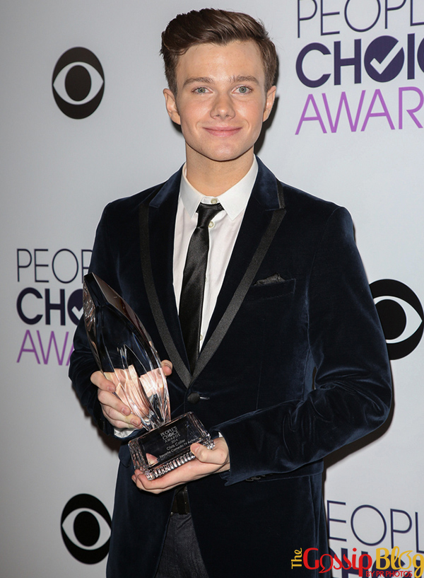 Chris Colfer at 40th Annual People's Choice Awards