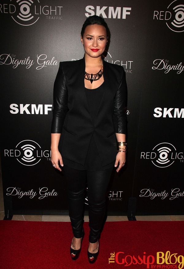 Demi Lovato at Dignity Gala and Launch of Redlight Traffic App