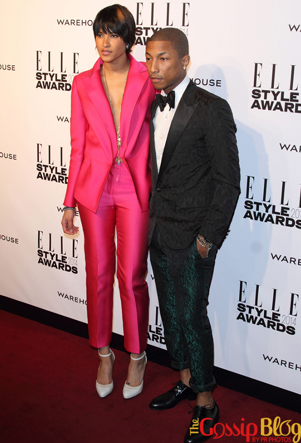 Helen Lasichanh and Pharrell Williams at Elle Style Awards 2014