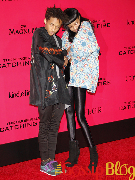 Jaden Smith and Willow Smith at 'Catching Fire' Los Angeles Premiere