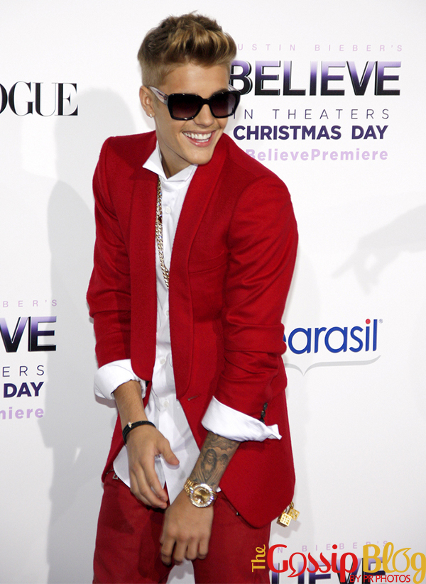 Justin Bieber at the 'Believe' Premiere