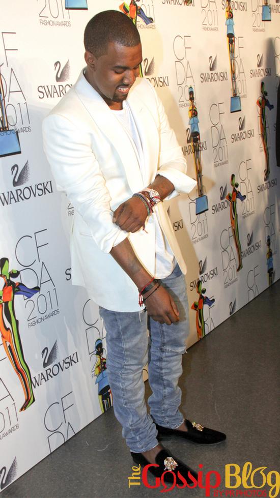 Kanye West at the 2011 CFDA Fashion Awards