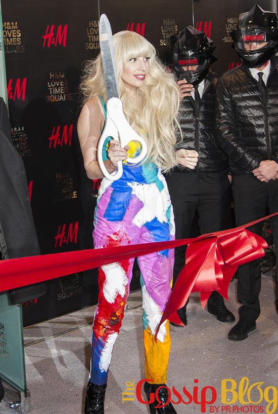 Lady Gaga Celebrates H&M's Times Square Grand Opening