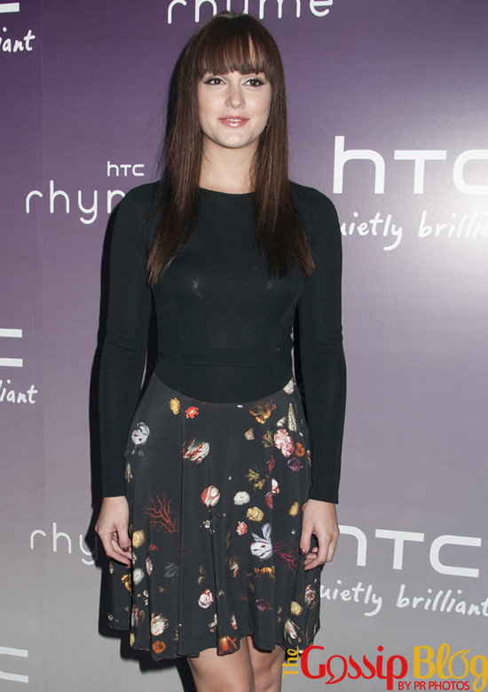 Leighton Meester at HTC Serves Up NYC Product Launch Event