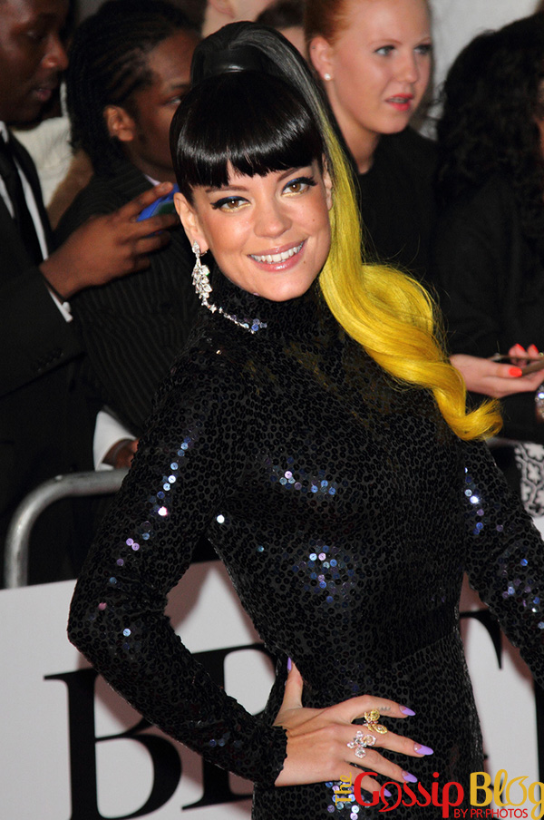 Lily Allen at BRIT Awards 2014