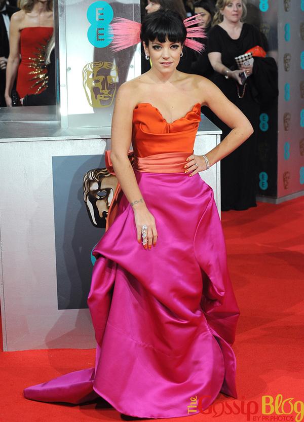 Lily Allen attends 2014 BAFTA Awards