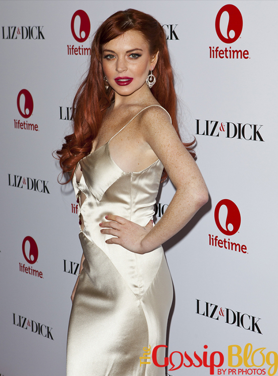 Lindsay Lohan at 'Liz & Dick' Los Angeles Premiere