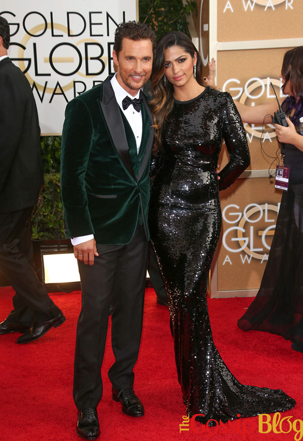 Matthew McConaughey, Camila Alves at 71st Annual Golden Globe Awards