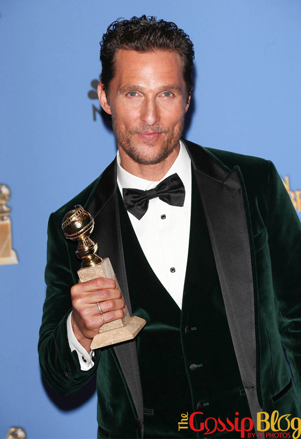 Matthew McConaughey at 71st Annual Golden Globe Awards