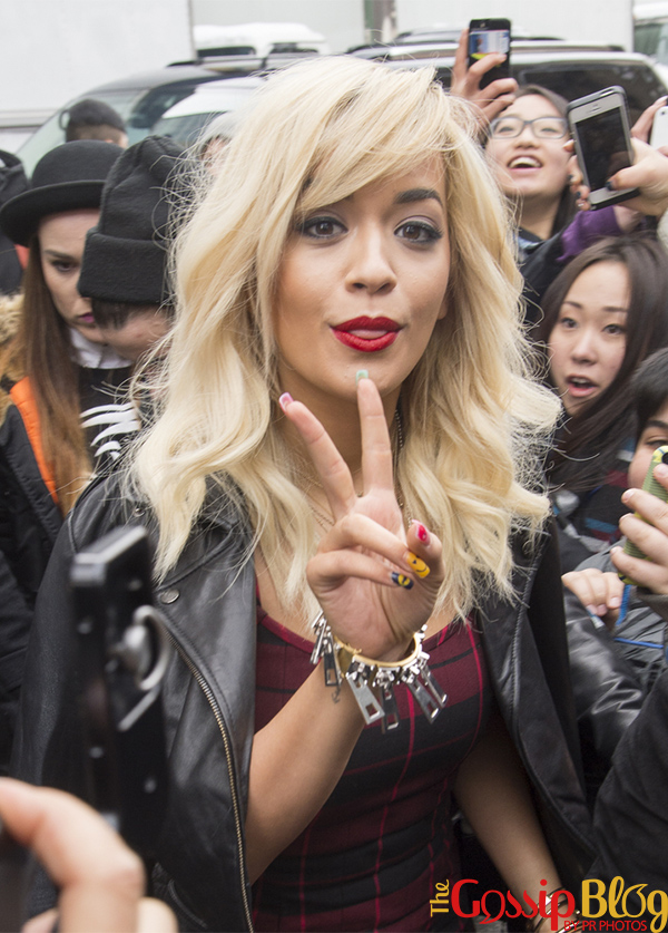 Rita Ora at DKNY Mercedes-Benz Fashion Week Fall 2014