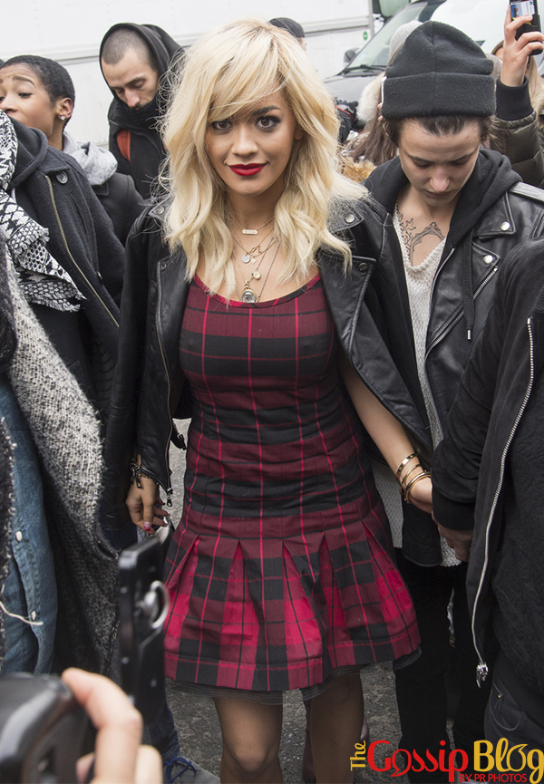 Rita Ora at Mercedes-Benz Fashion Week Fall 2014