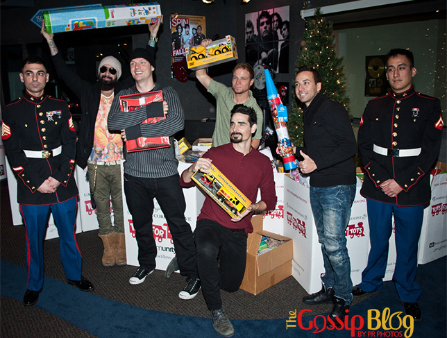 The Backstreet Boys Attend the Mix 106 & Q102 Toys For Tots Collection 1