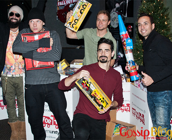 The Backstreet Boys Attend the Mix 106 & Q102 Toys For Tots Collection 2