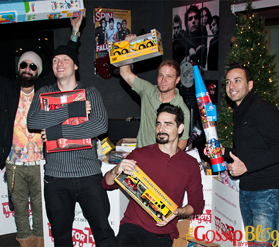The Backstreet Boys Attend the Mix 106 & Q102 Toys For Tots Collection