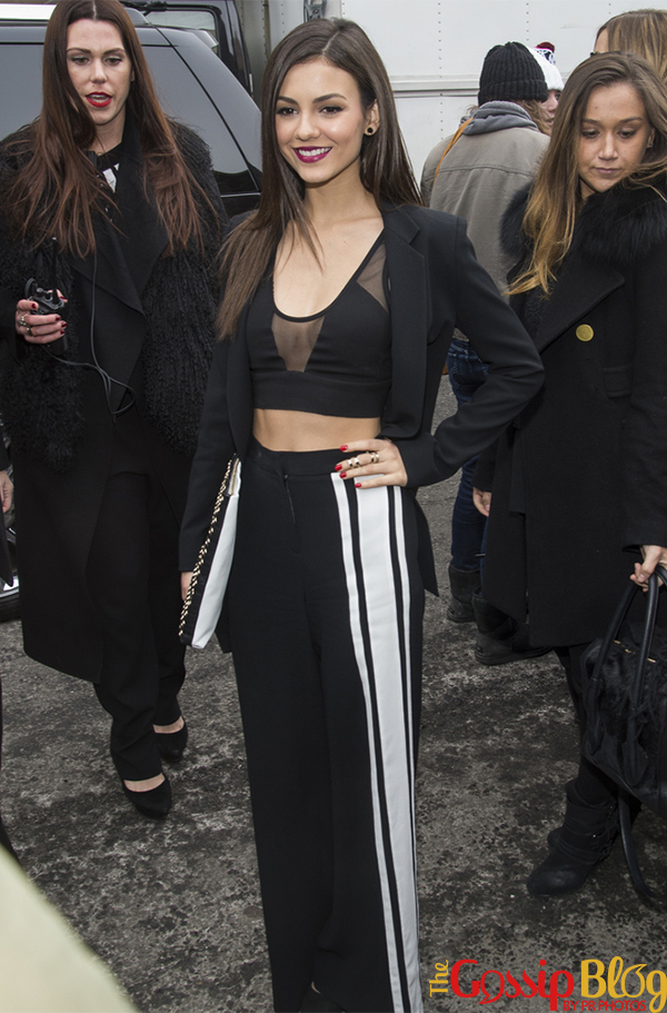 Victoria Justice at DKNY Mercedes-Benz Fashion Week Fall 2014