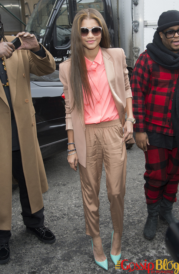 Zendaya at DKNY Mercedes-Benz Fashion Week Fall 2014