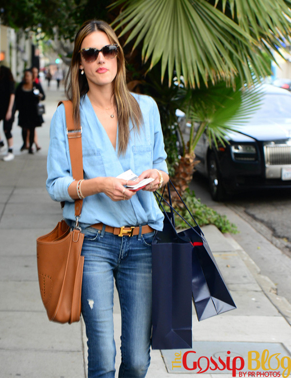 Alessandra Ambrosio Goes Shopping In Beverly Hills