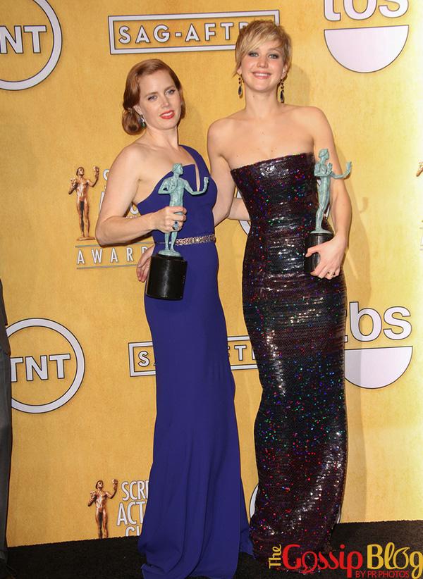 Amy Adams, Jennifer Lawrence at 2014 SAG Awards