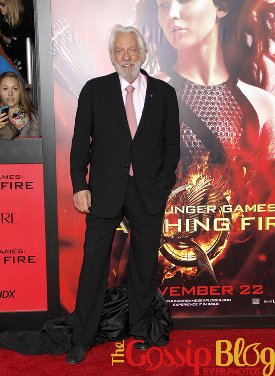 Donald Sutherland at 'Catching Fire' Los Angeles Premiere