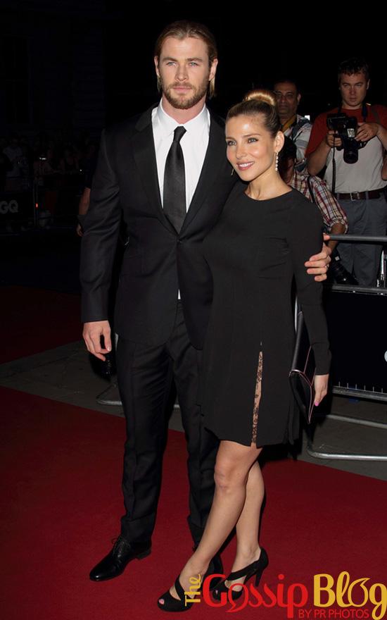Elsa Pataky and Chris Hemsworth at GQ Men of the Year 2012