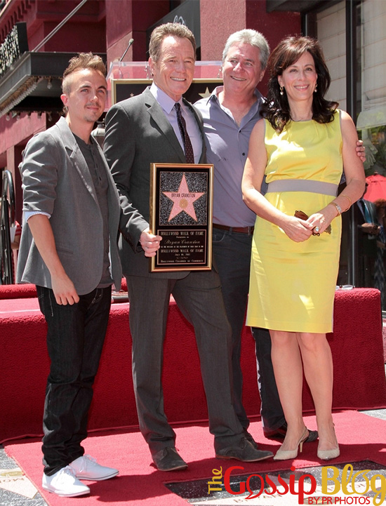 Frankie Muniz at Bryan Cranston's Walk of Fame Ceremony