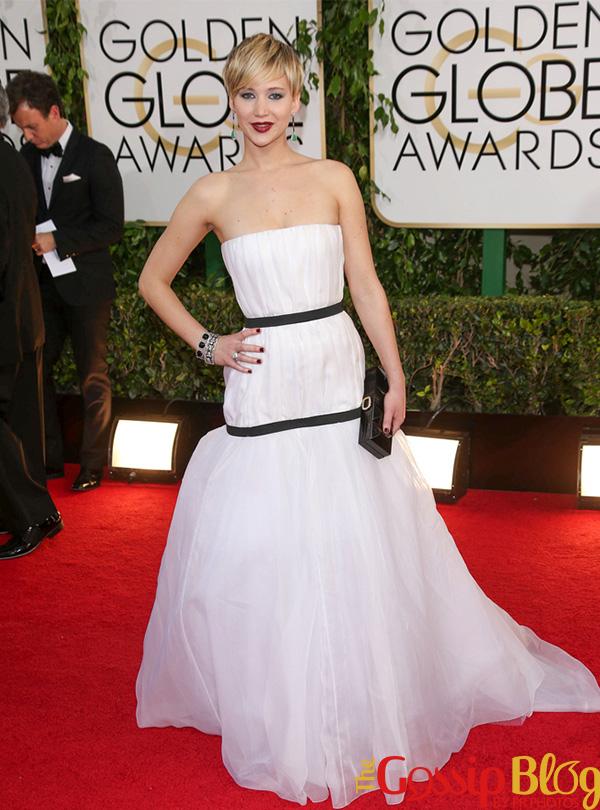 Jennifer Lawrence at 2014 Golden Globes