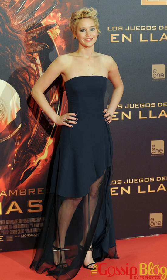 Jennifer Lawrence at 'The Hunger Games Catching Fire' Madrid Premiere