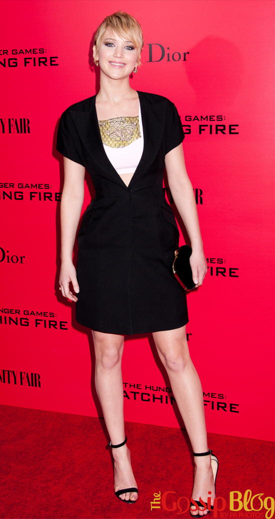 Jennifer Lawrence at 'The Hunger Games Catching Fire' NYC Special Screening