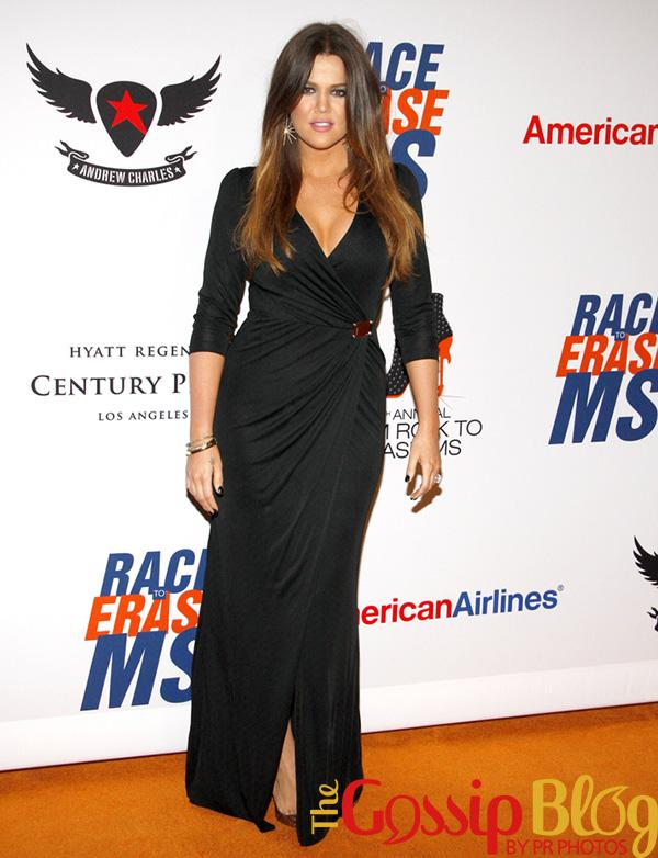 Khloe Kardashian attends 2012 Race to Erase MS Gala