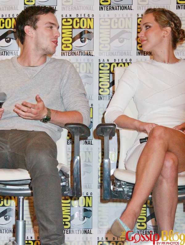 Nicholas Hoult, Jennifer Lawrence at Comic-Con International