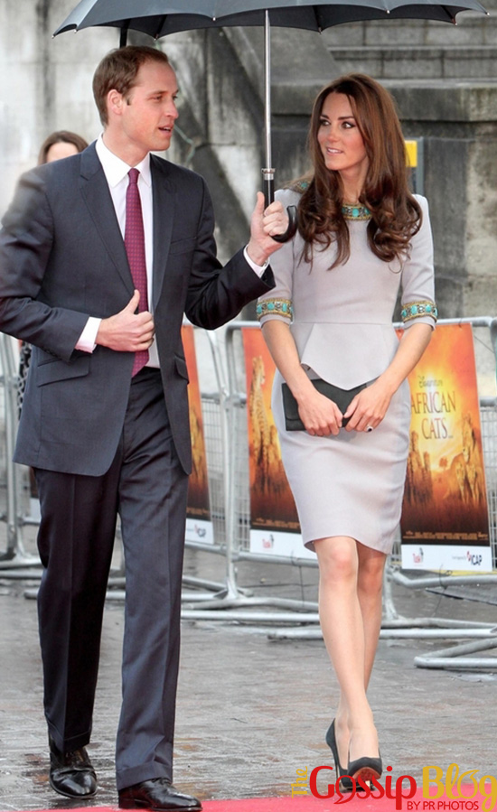 Prince William, Duke of Cambridge and Catherine, the Duchess of Cambridge at 'African Cats' Premiere