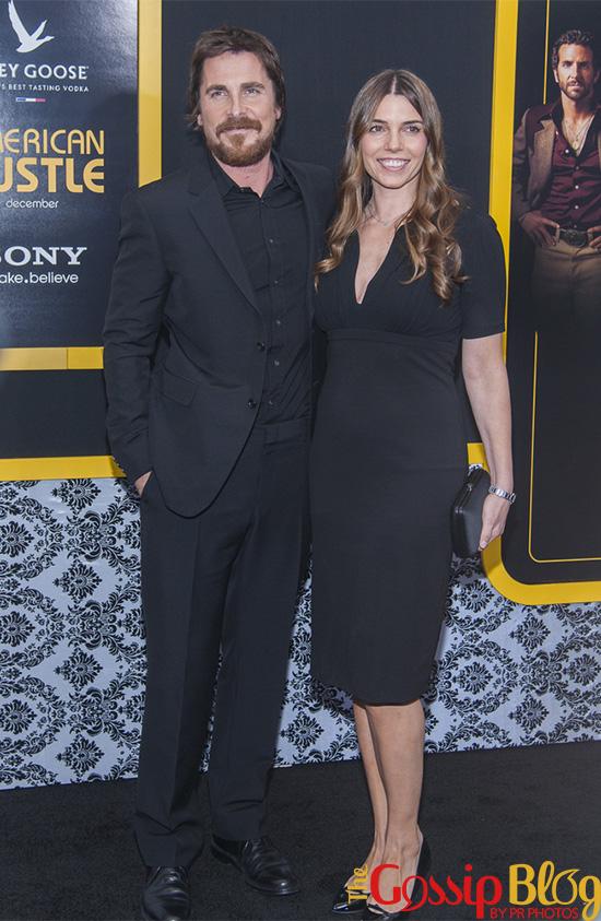 Christian Bale, Sibi Blazic at 'American Hustle' NYC Premiere