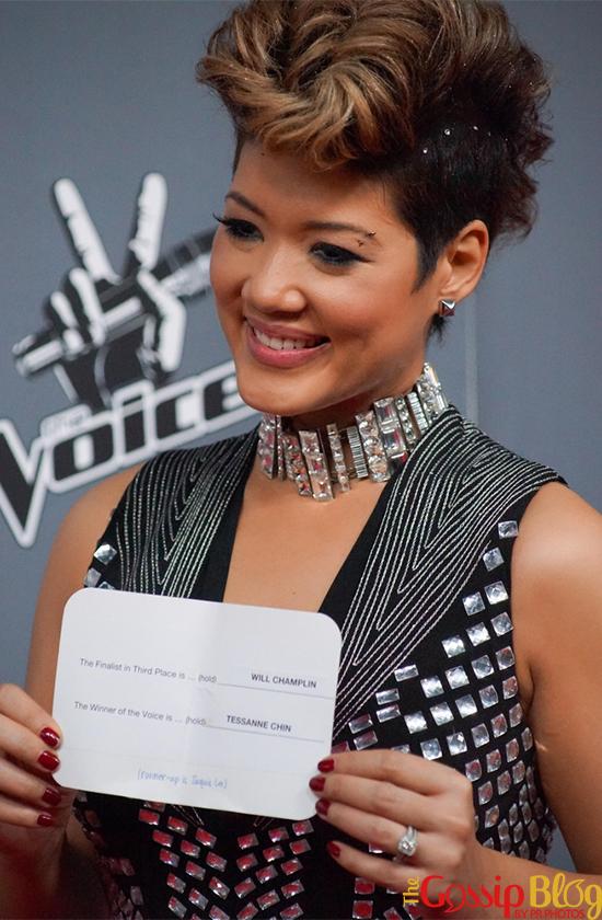 Tessanne Chin at 'The Voice' Season 5 Finale
