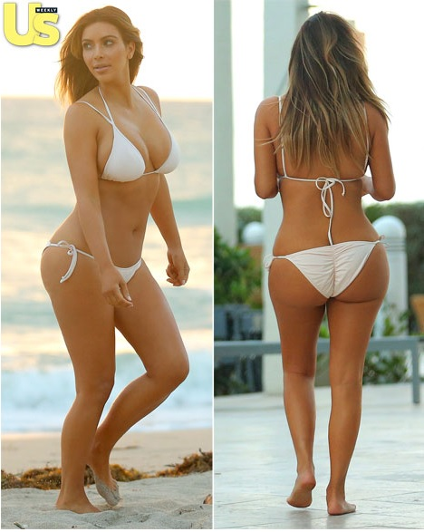 kim k bikini body