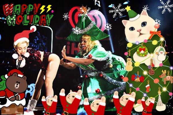 miley cyrus holiday performance