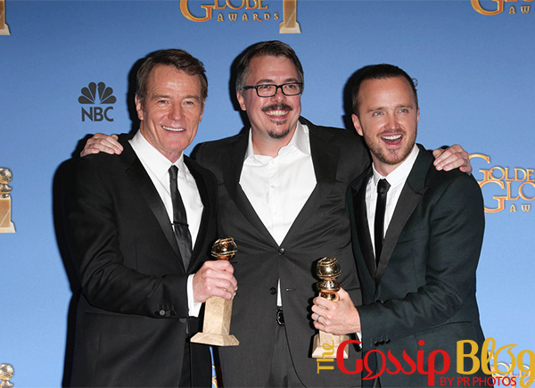 Bryan Cranston, Vince Gilligan and Aaron Paul