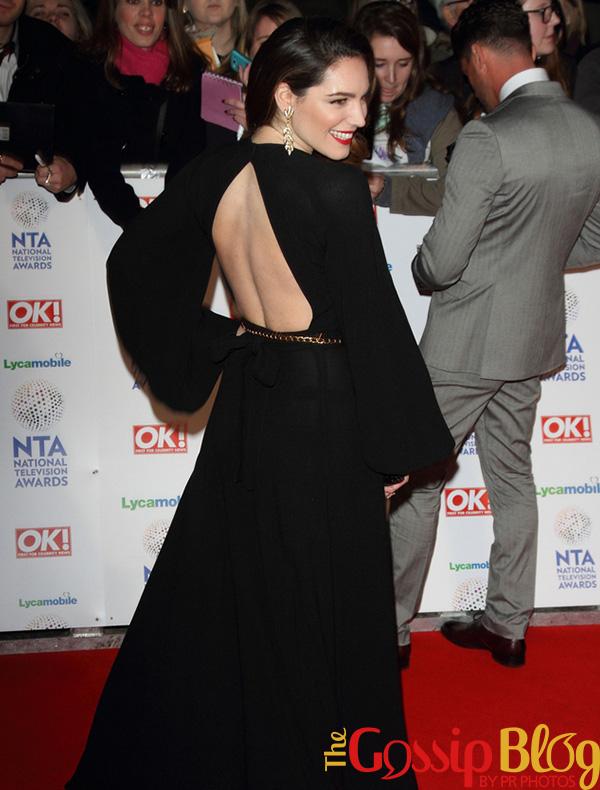 Kelly Brook black dress