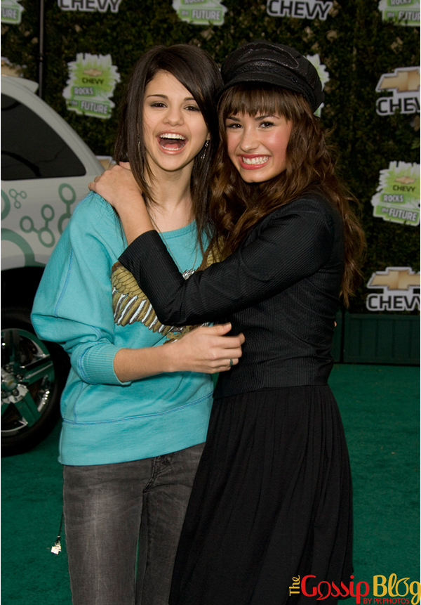 Demi Lovato and Selena Gomez at Chevy