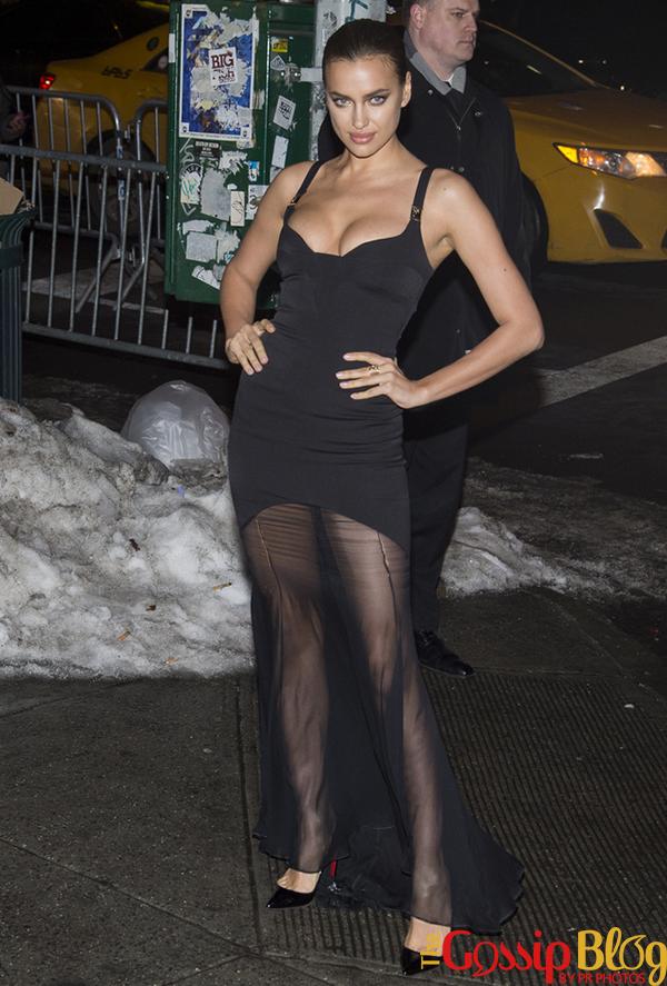 Irina Shayk sheer dress