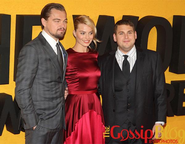 Leonardo DiCaprio, Margot Robbie and Jonah Hill