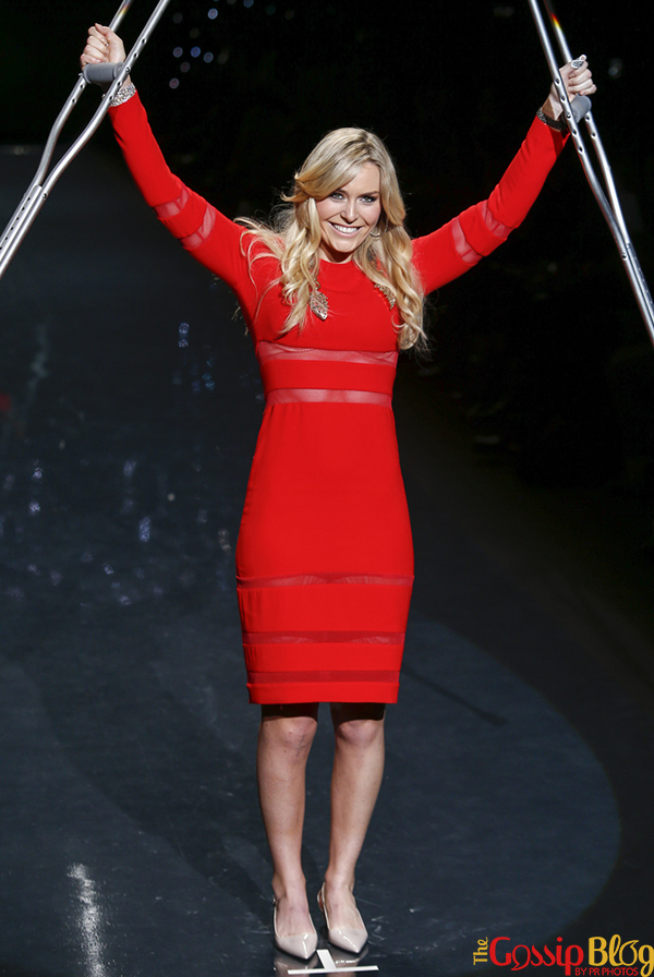 Lindsey Vonn Models The Heart Truth Collection 2014