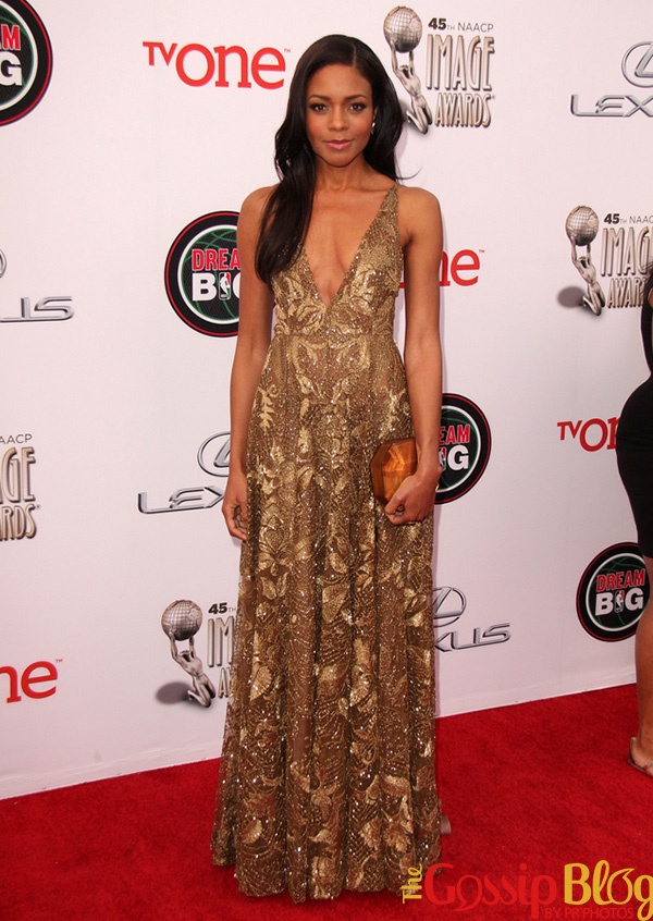 Naomie Harris in Valentino 2014 NAACP Image Awards