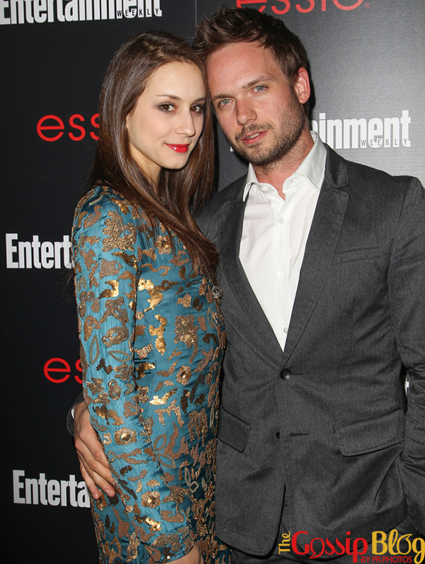 Patrick J Adams and Troian Bellisario allegedly engaged